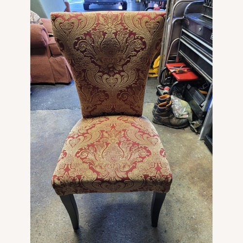 Used Red Paisley Pier 1 Import Accent Chair for sale on AptDeco