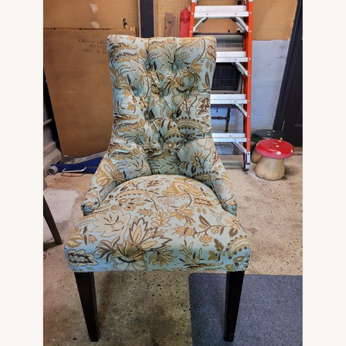 Used Blue Paisley Pier 1 Import Accent Chair for sale on AptDeco