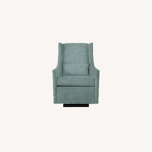 Used West Elm Graham Glider Poly Heathered Weave for sale on AptDeco