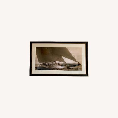 Used J Class Sailboat, 1934 Framed Print for sale on AptDeco