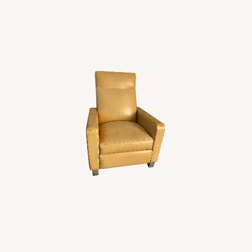 Used Room & Board Isaac Recliner: Leather & Camel Color for sale on AptDeco