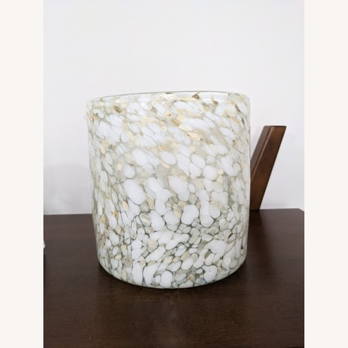 Used West Elm Blown Glass Hurricane - Large for sale on AptDeco