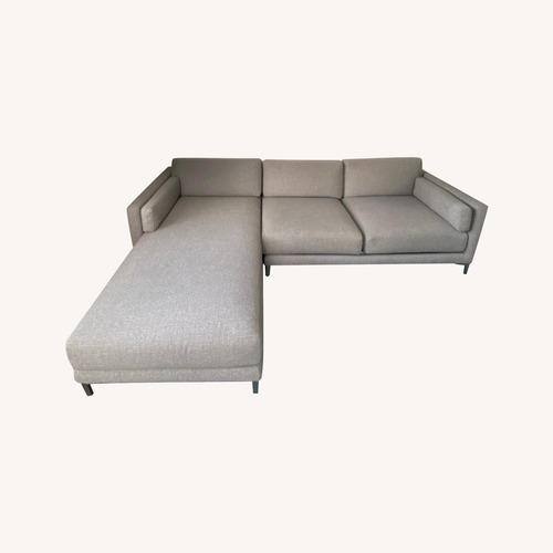 Used CB2 L Shape Light Grey Sectional for sale on AptDeco