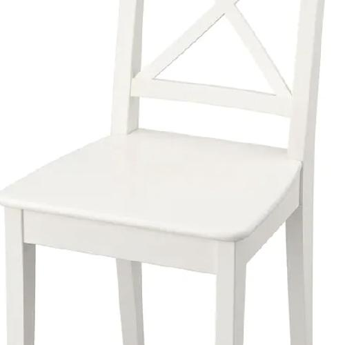 Used IKEA INGOLF  White Kitchen Chairs for sale on AptDeco