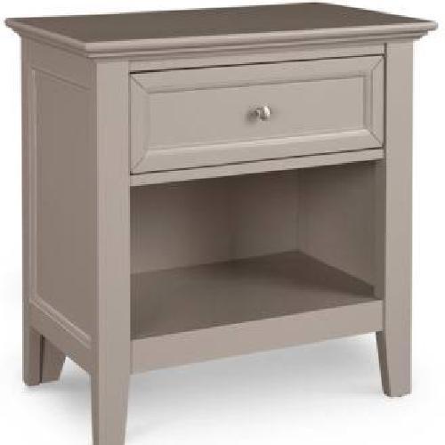 Used Macy's Set of 2 Grey Nightstand with Shelf for sale on AptDeco