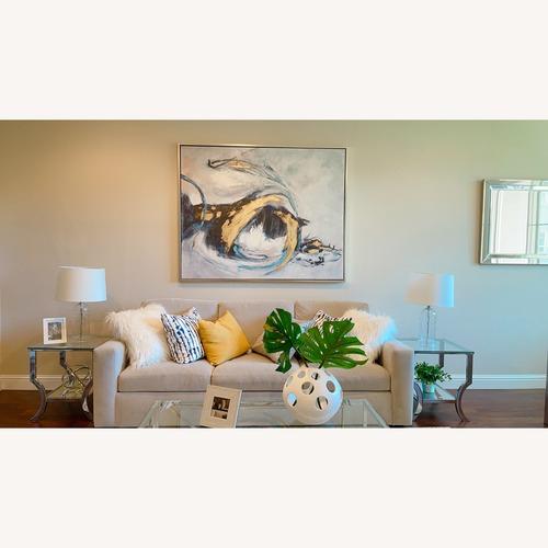 "Used Room&Board Taft 90"" Long Sofa in View Grey for sale on AptDeco"