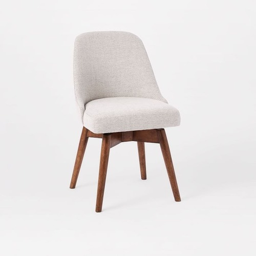 Used West Elm Mid Century Office Chair, Twill Dove for sale on AptDeco