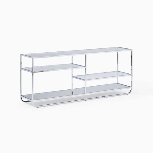 Used West Elm Denise Bookshelf Square Chrome Metal/Glass for sale on AptDeco