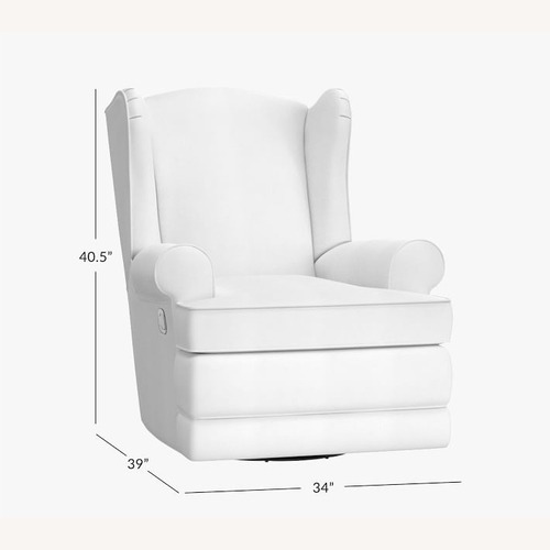 Used Pottery Barn Wingback Swivel Glider and Recliner for sale on AptDeco