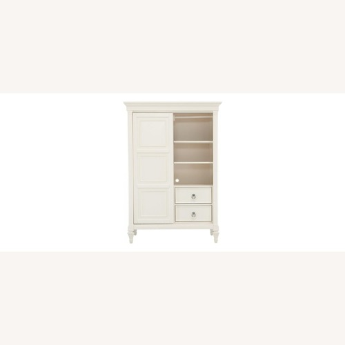 Used Raymour & Flanigan Somerset Chifforobe in Alabaster White for sale on AptDeco