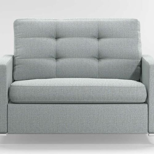 Used Crate and Barrel Bowen Twin Tufted Sleeper Sofa for sale on AptDeco