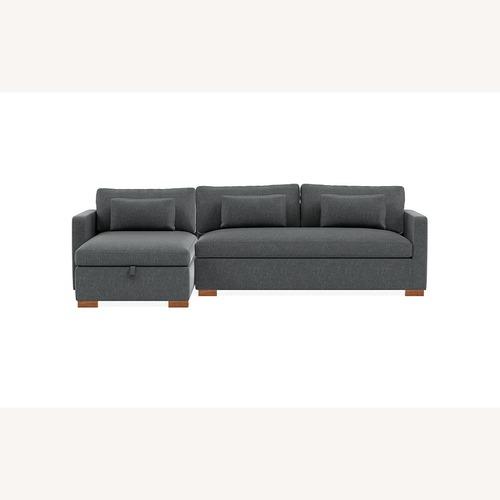 Used Interior Define CharlyStorage Sleeper Sectional Sofa for sale on AptDeco