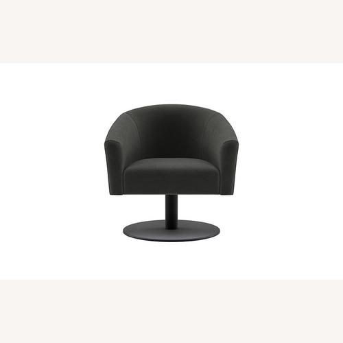 Used Interior Define Tegan Fabric Swivel Chair for sale on AptDeco