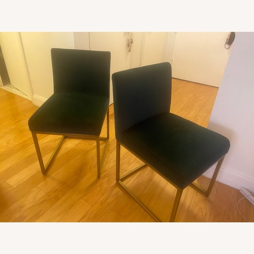 Used Article Emerald Green Velvet Dining Chairs for sale on AptDeco