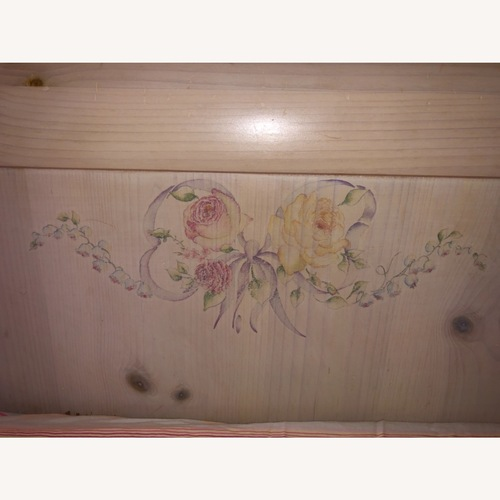 Used Thomasville Pine Twin Sleigh Bed for sale on AptDeco