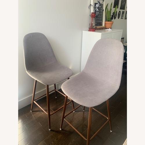 Used Wayfair Gray Counter Height Chair for sale on AptDeco