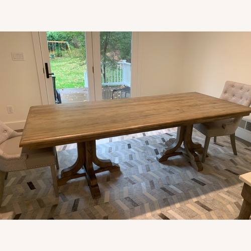 Used Pottery Barn Linden Dining Table for sale on AptDeco