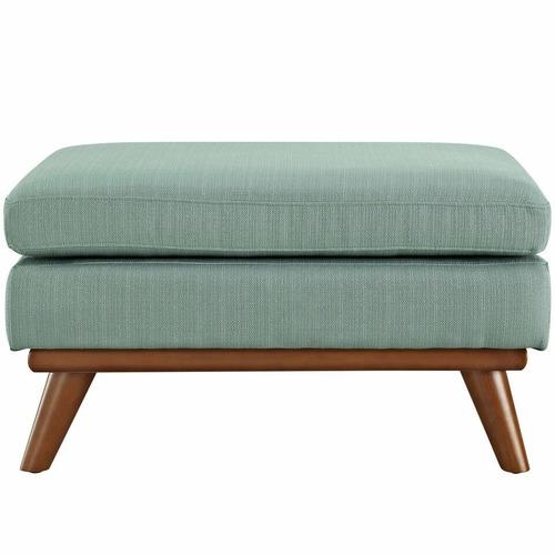 Used Modern Ottoman In Laguna Fabric Upholstery Finish for sale on AptDeco