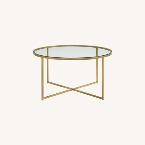 Used Wayfair Zara Coffee Table with Tray Top for sale on AptDeco