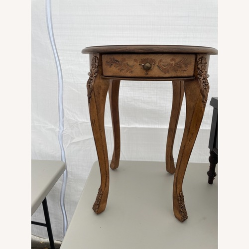 Used Antique Round End Table for sale on AptDeco