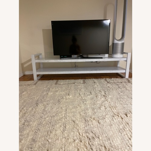 Used Target Cosmo Living White TV Stand - Glam for sale on AptDeco
