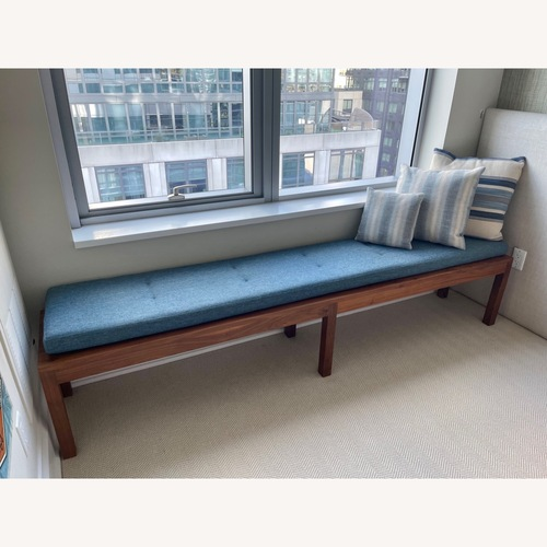 Used Bench in Wood with Cushion for sale on AptDeco