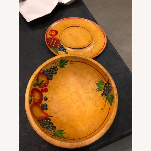 Used 1950's Wooden Bowl and Tray for sale on AptDeco