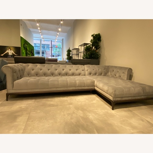 Used Lazzoni Castello Chesterfield Sectional for sale on AptDeco