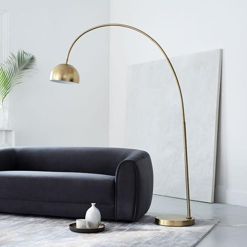 Used West Elm Overarching Metal Floor Lamp for sale on AptDeco