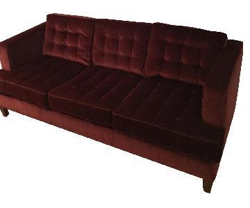Arhaus Burgundy Sofa