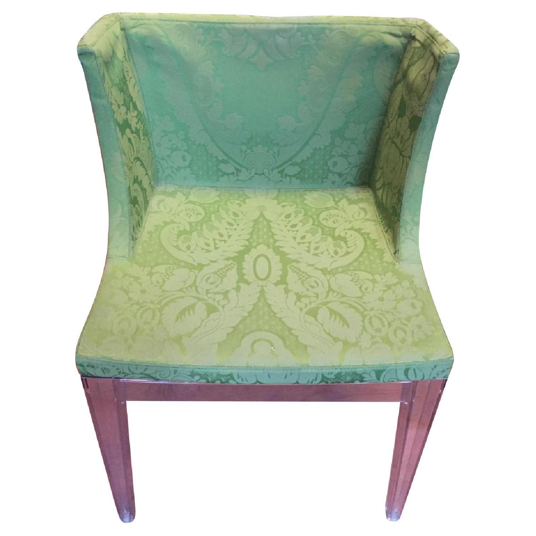 Kartell Philippe Starck Mademoiselle Chair in Green Damask