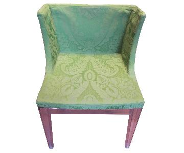 Kartell Philippe Starck Mademoiselle Chair in Green Damask