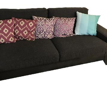 Ikea Kivik Sectional w/ Chaise in Dansbro Dark Gray