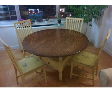 Crate & Barrel Basque Round Dining Table