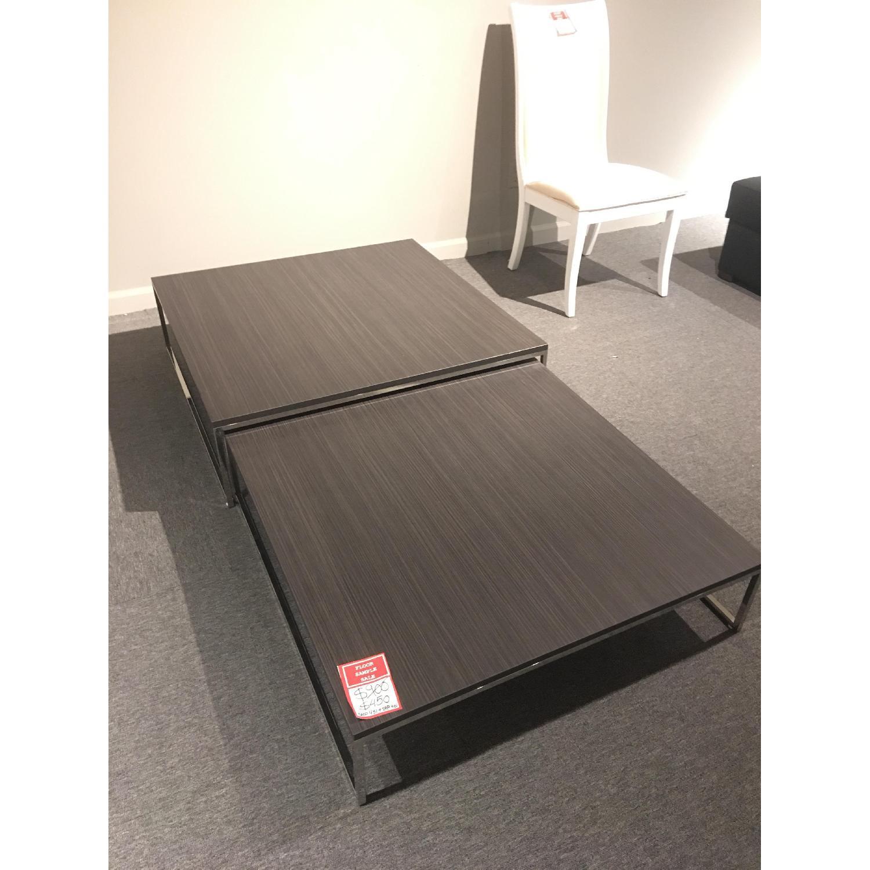 Lazzoni Wood Metal Expandable Coffee Table AptDeco
