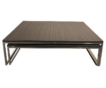Lazzoni Wood/Metal Expandable Coffee Table