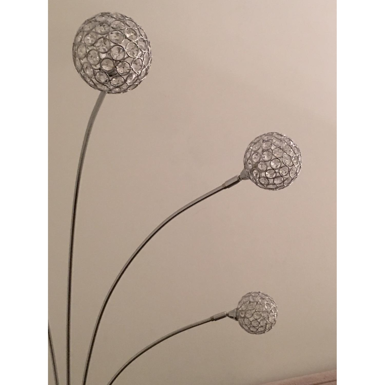 possini euro design allegra crystal ball arc floor lamp. Black Bedroom Furniture Sets. Home Design Ideas