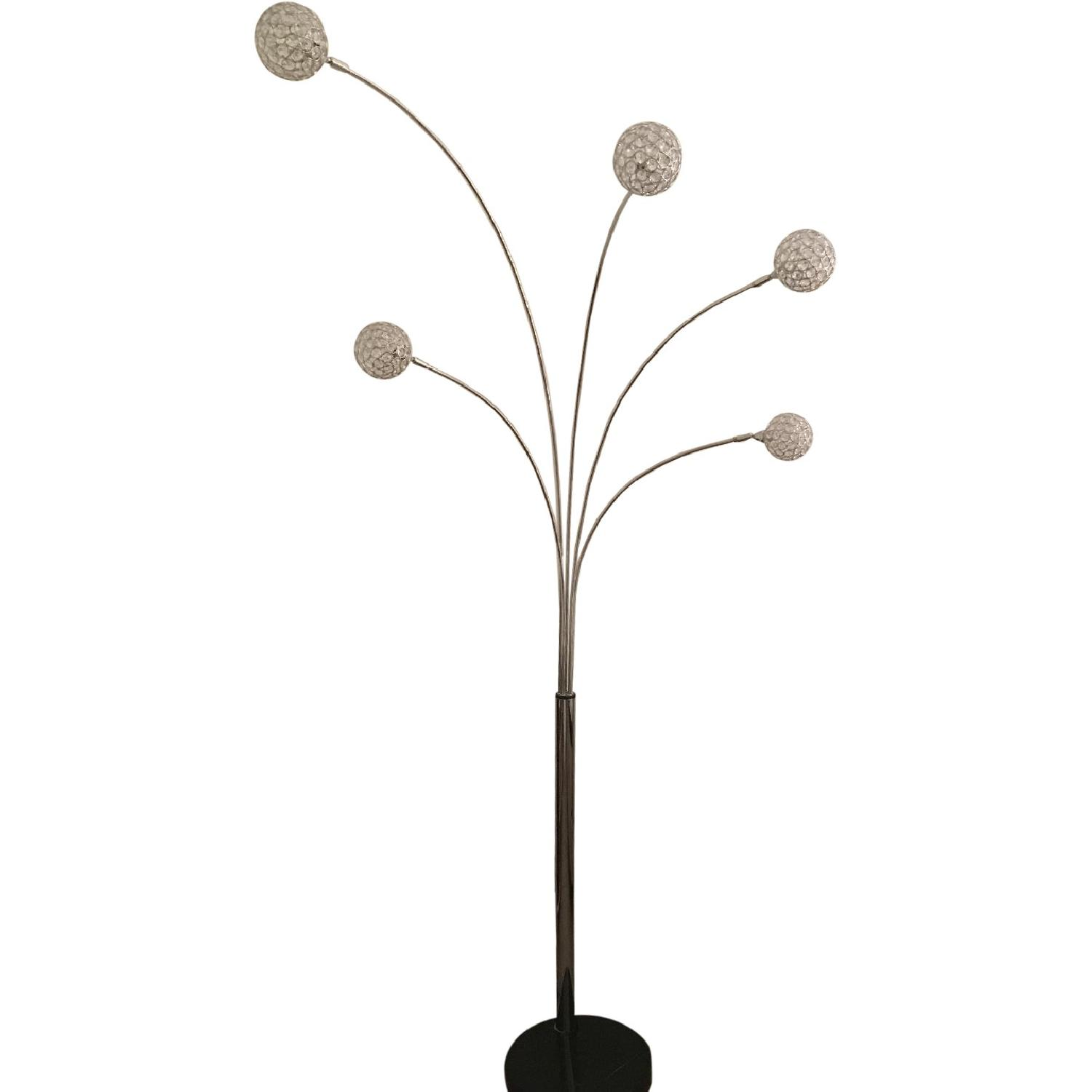 Possini Euro Design Allegra Crystal Ball Arc Floor Lamp AptDeco
