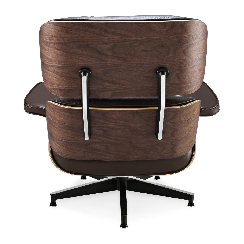 Eames Lounge Stoel Replica.Eames Lounge Chair Replica In Brown Aptdeco