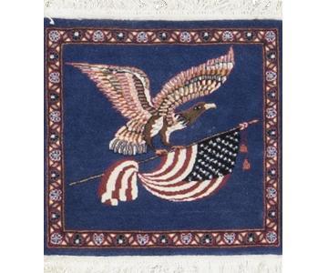 Hand Woven US Flag Rug