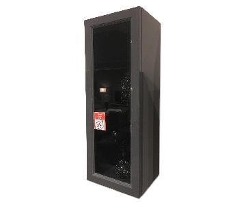 Lazzoni Dark Grey Lacquer & Glass Cabinet