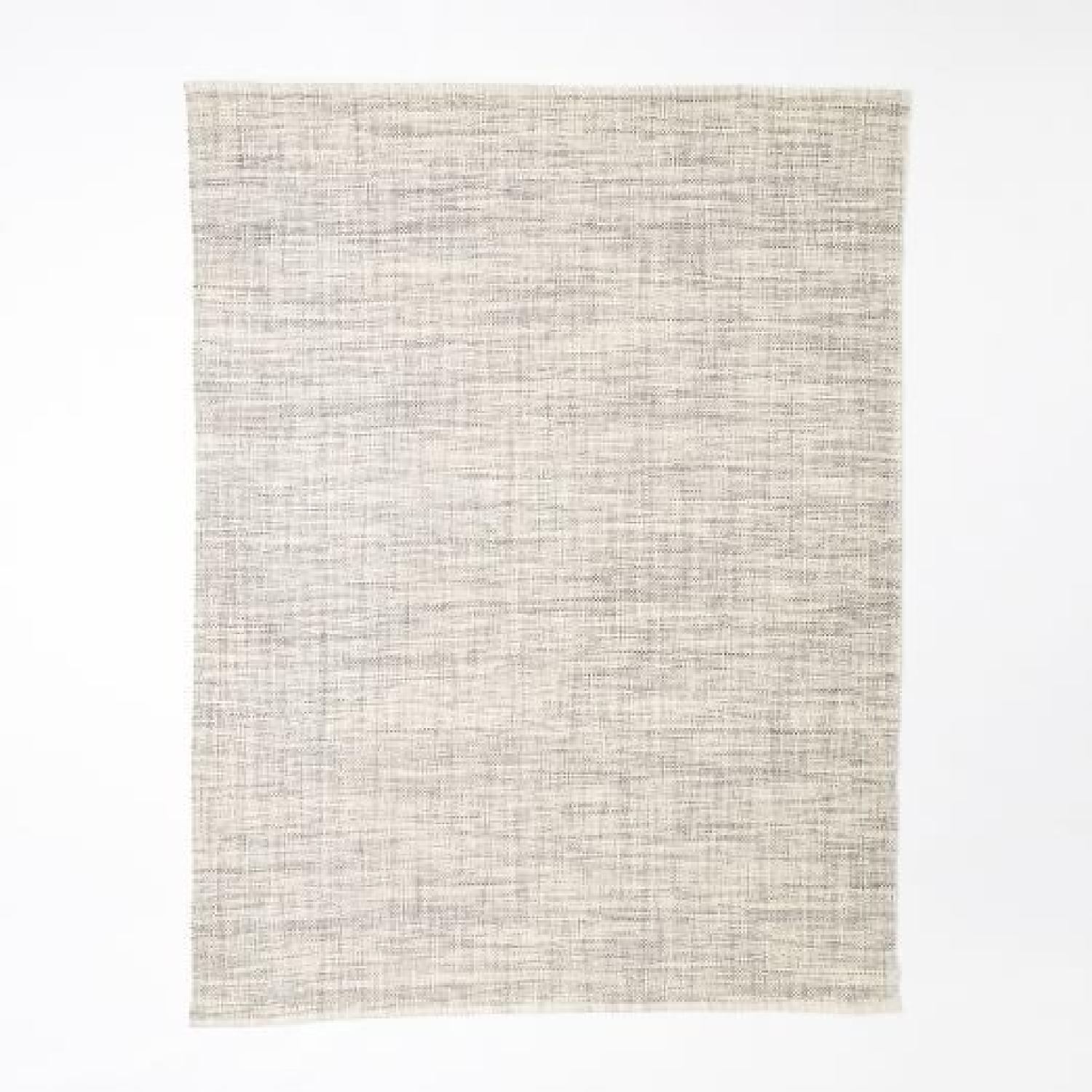 West Elm Mid-Century Heathered Basketweave Wool Rug