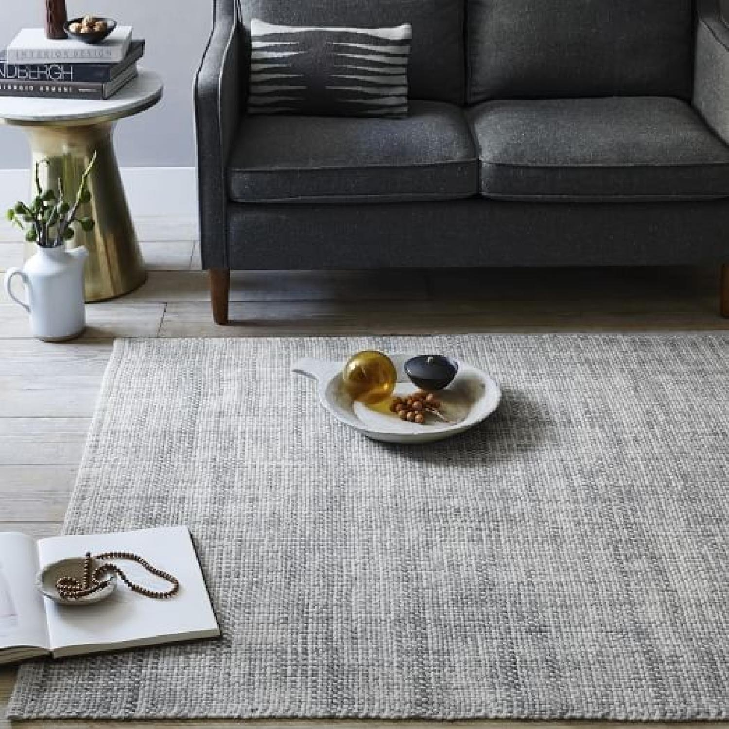 West Elm Mid-Century Heathered Basketweave Wool Rug-0