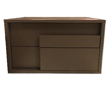 Lazzoni Matte Lacquer Nightstand w/ Drawers