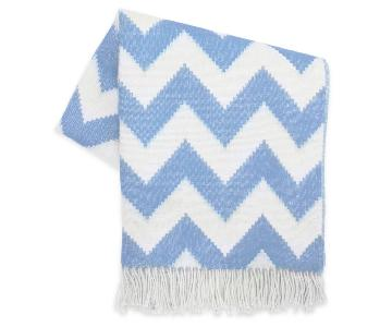 Jonathan Adler Baby Alpaca Zig Zag Throw in Blue
