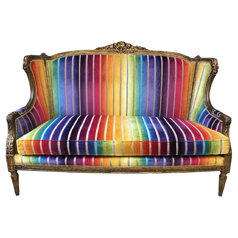 Custom Rainbow Rococo Couch