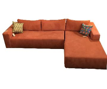 Design Within Reach Reid Sectional w/ Right Chaise in Fabric