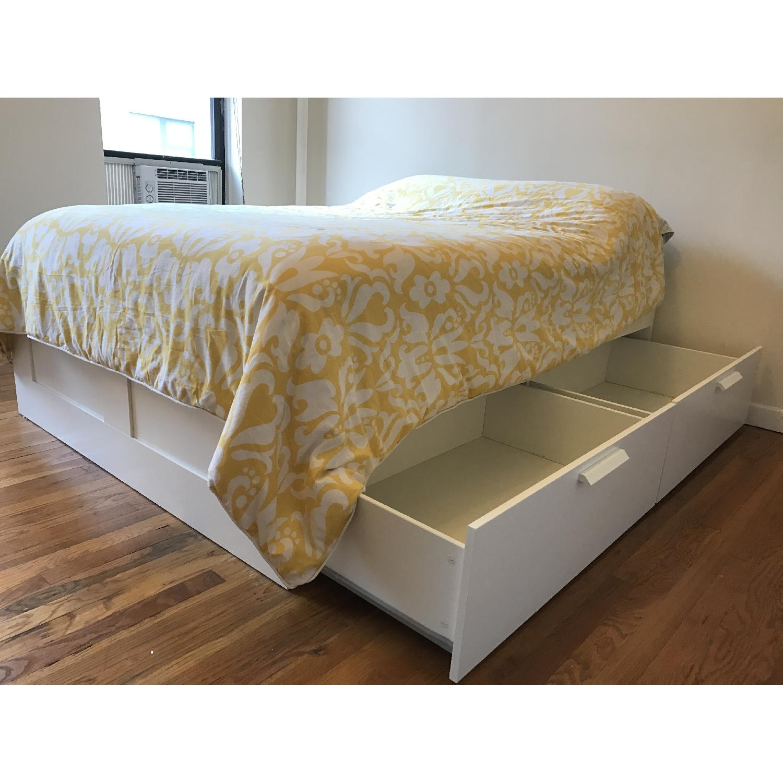 Ikea Brimnes Full Size Bed Frame W 4 Storage Drawers Aptdeco,Single Story 5 Bedroom Bungalow House Plans