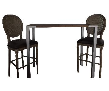 Restoration Hardware Dining Table w/ 2 Chairs