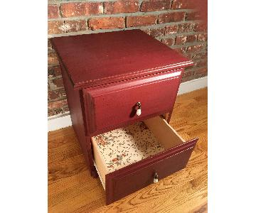 Burgundy Nightstand